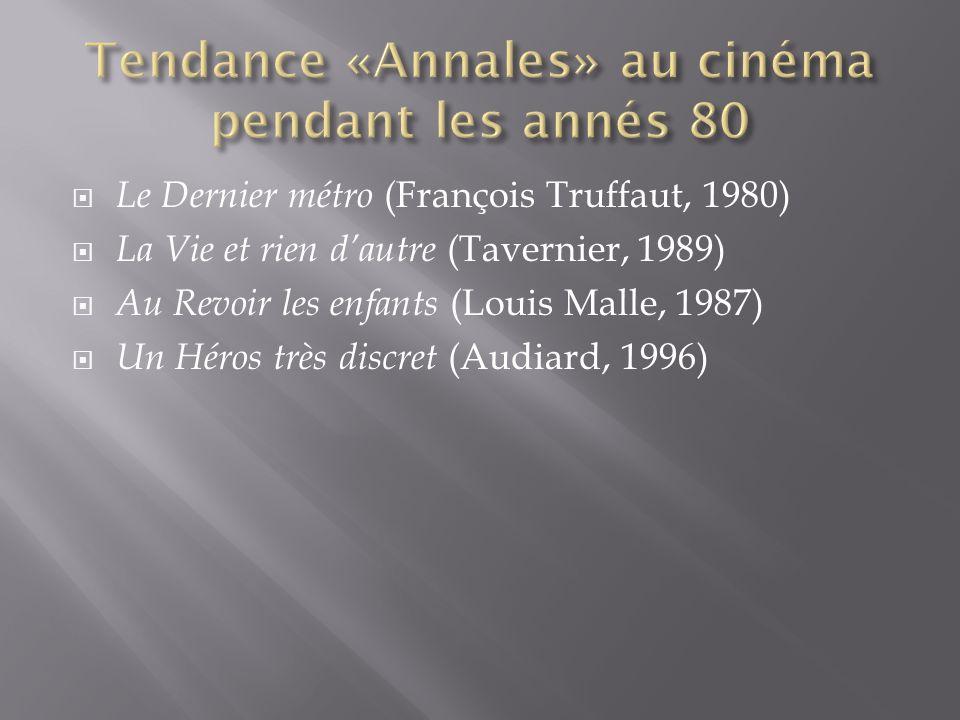 Le Dernier métro (François Truffaut, 1980) La Vie et rien dautre (Tavernier, 1989) Au Revoir les enfants (Louis Malle, 1987) Un Héros très discret (Au