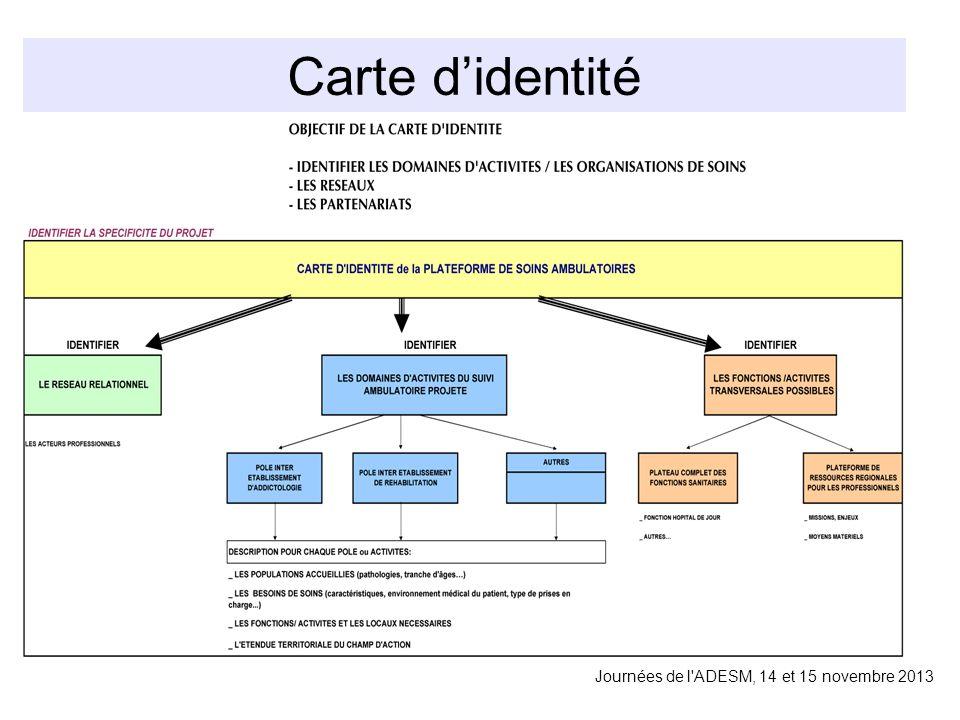 Carte didentité Journées de l ADESM, 14 et 15 novembre 2013
