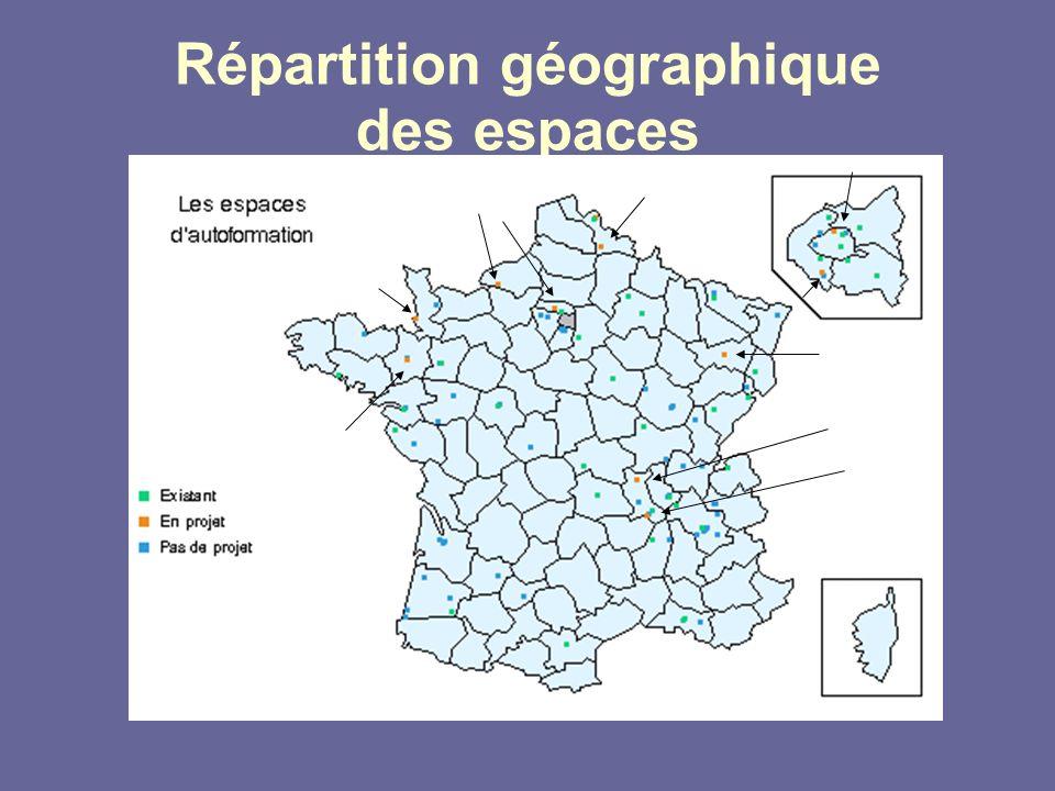 Répartition géographique des espaces