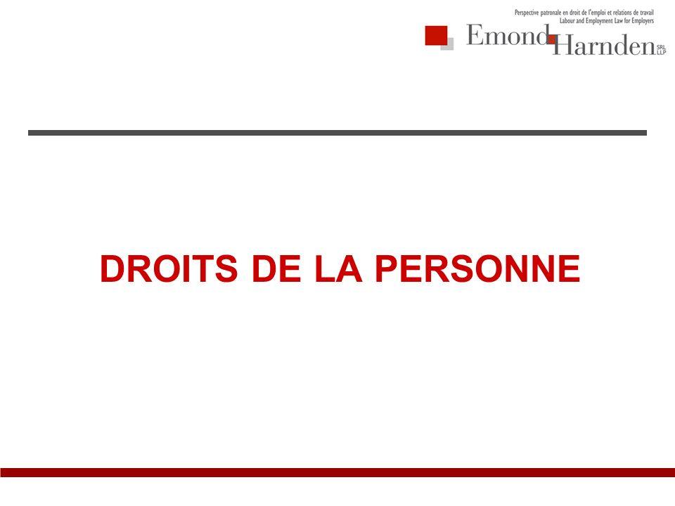 DROITS DE LA PERSONNE