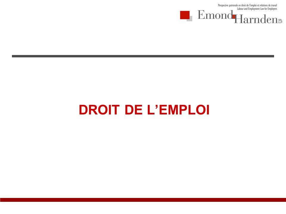 DROIT DE LEMPLOI