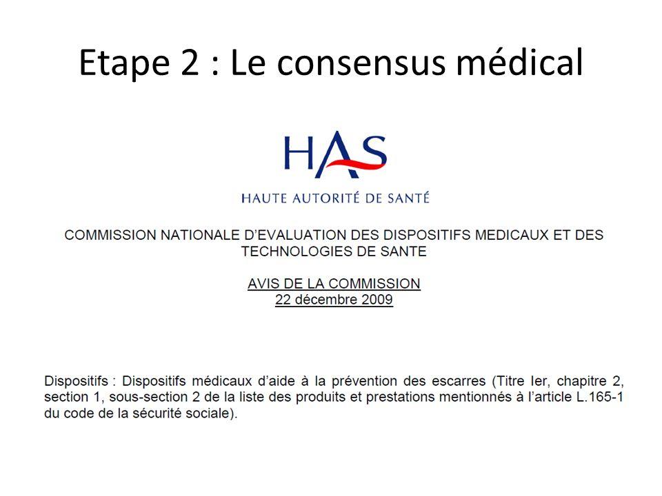 Etape 2 : Le consensus médical