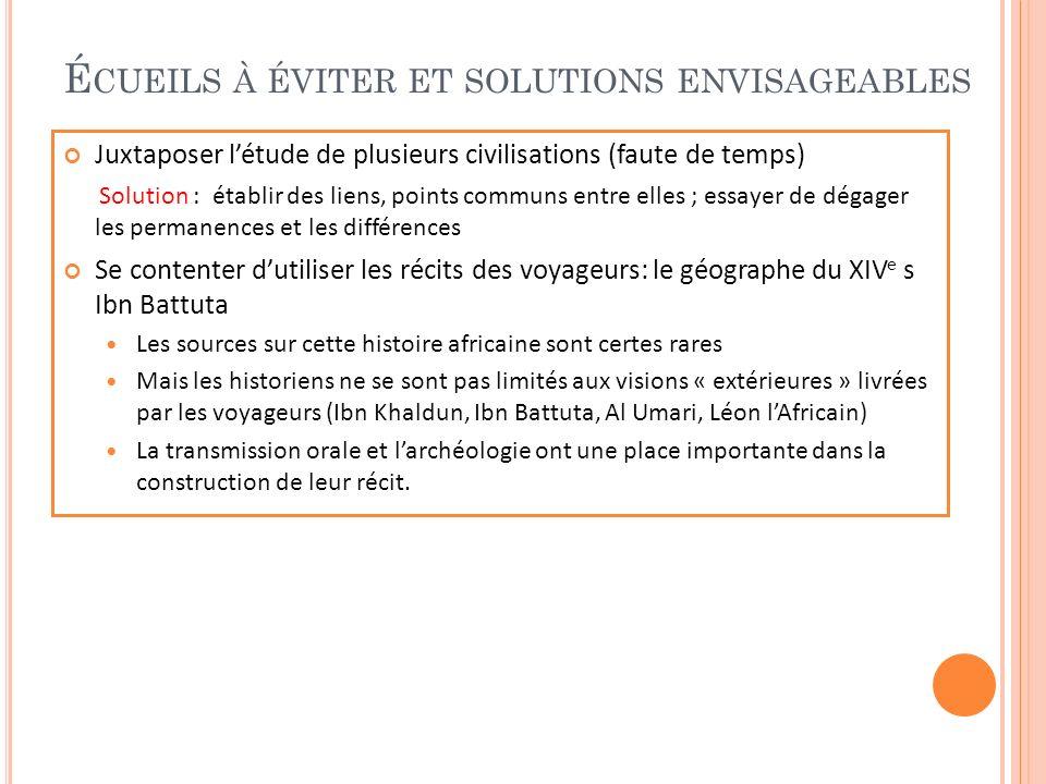 L E COMMERCE AURIFÈRE Document : carte (diapo 16) Développement des relations commerciales transsahariennes.