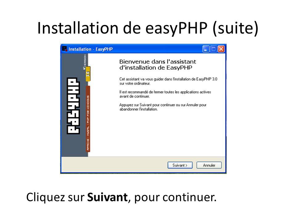 UTILISATION DE PHP