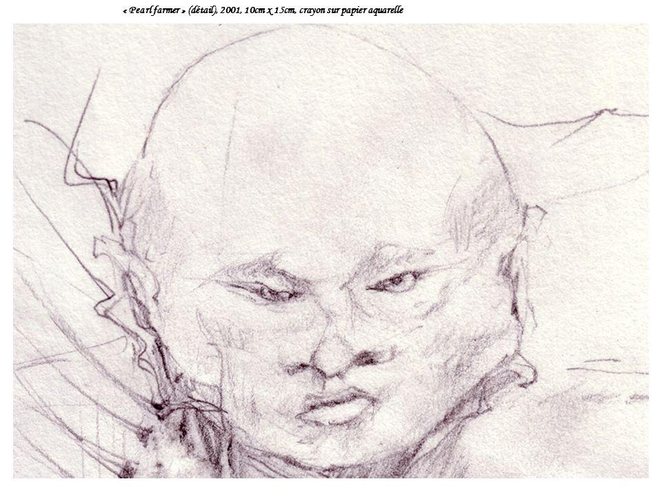 « Pearl farmer » (détail), 2001, 10cm x 15cm, crayon sur papier aquarelle