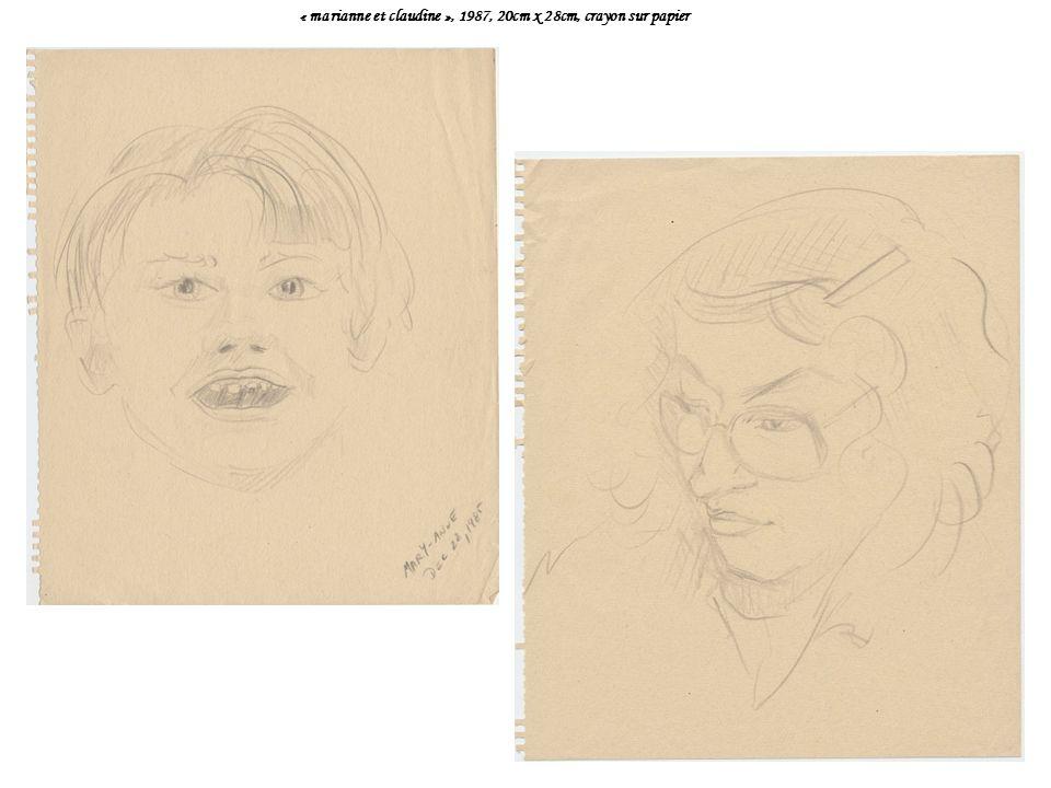 « marianne et claudine », 1987, 20cm x 28cm, crayon sur papier