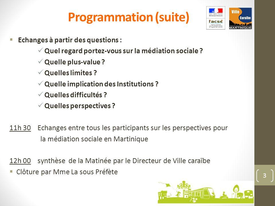 Eléments détat des lieux sur la médiation sociale et du dispositif « adultes relais » en Martinique Centre de ressources Ville caraïbe - 4