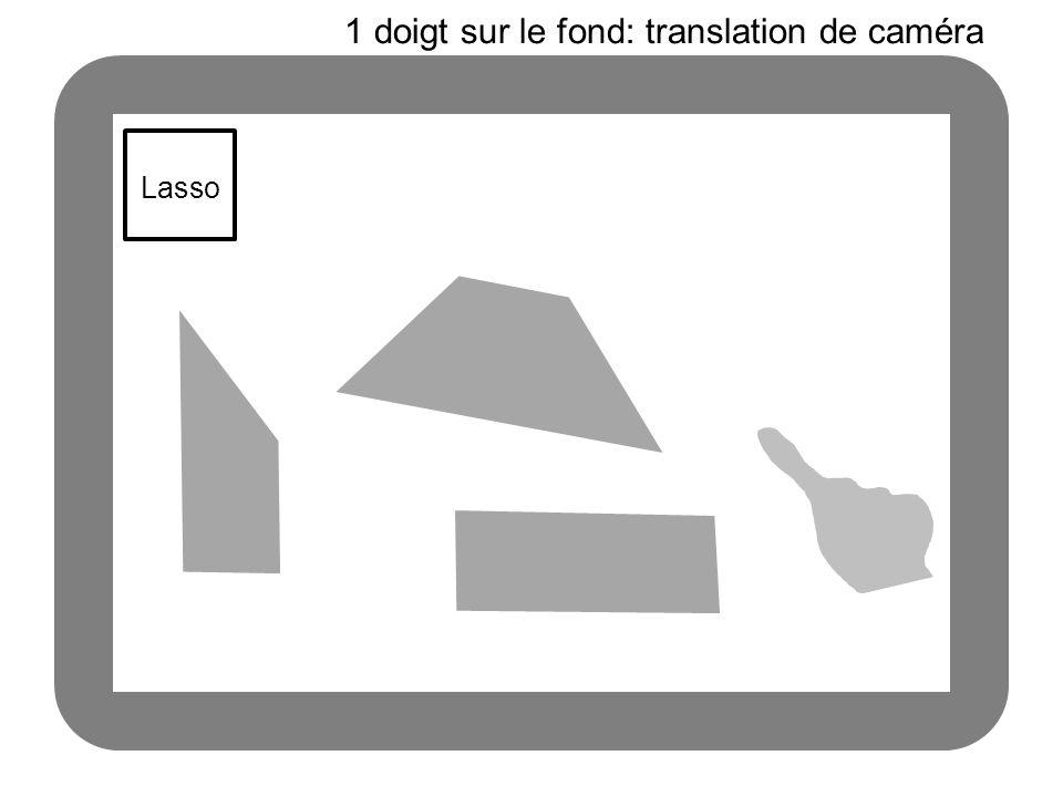1 doigt sur le fond: translation de caméra
