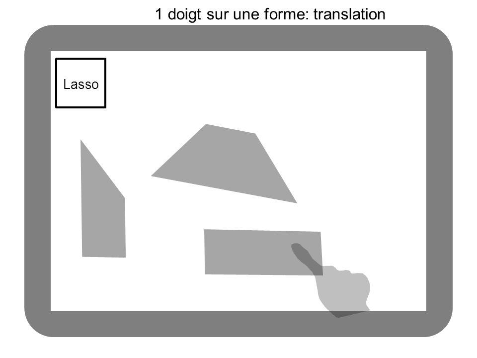 Lasso 1 doigt sur une forme: translation