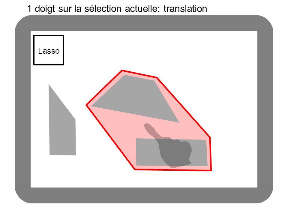 Lasso 1 doigt sur la sélection actuelle: translation