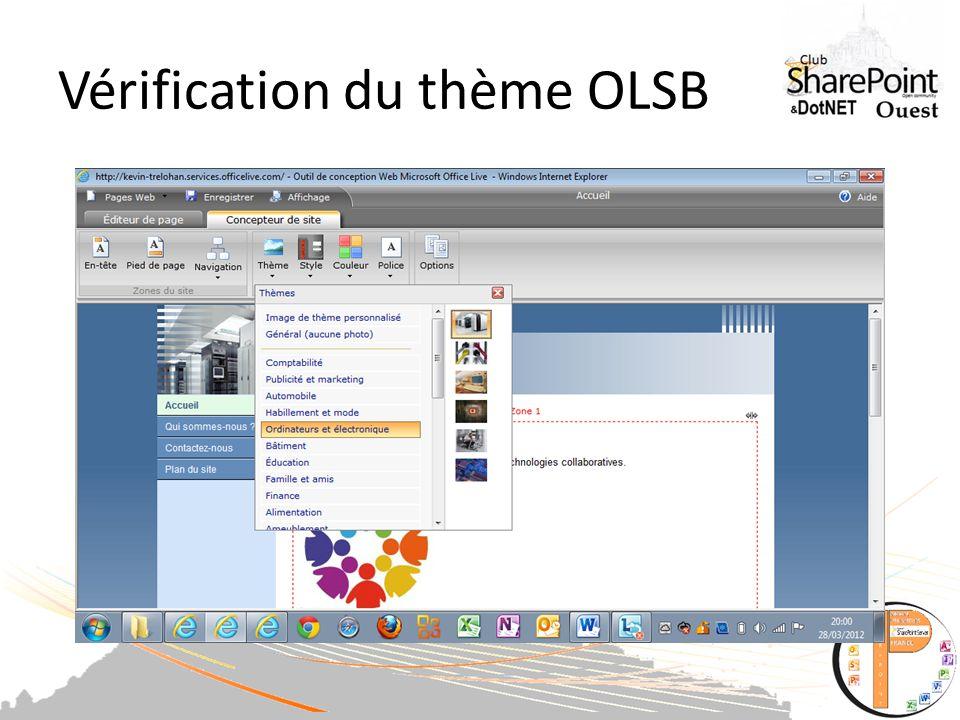 Vérification du thème OLSB