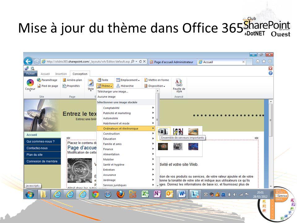 Mise à jour du thème dans Office 365