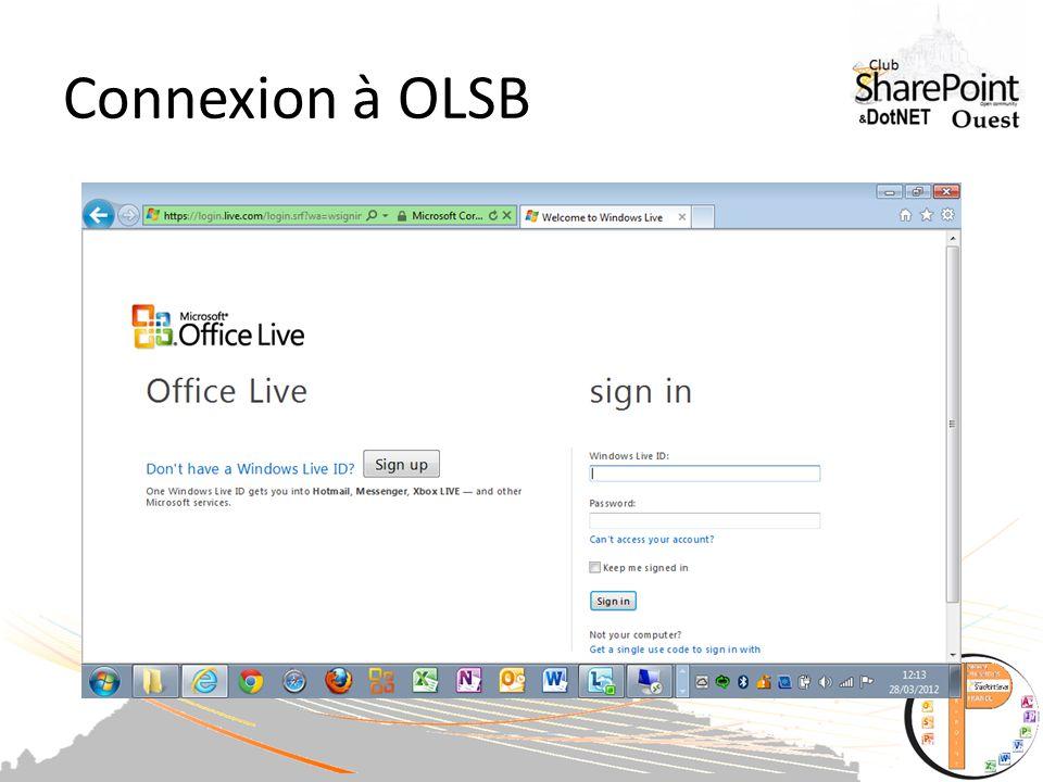 Connexion à OLSB