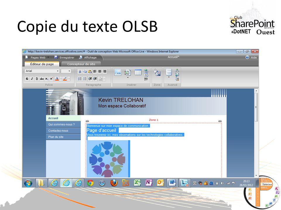 Copie du texte OLSB