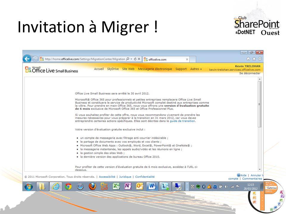 Invitation à Migrer !