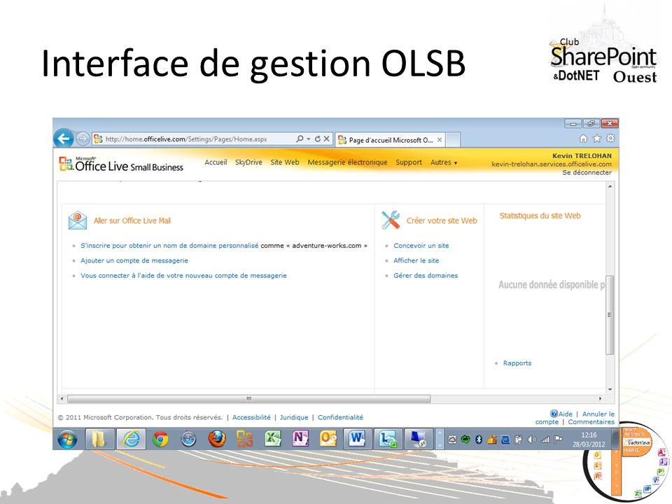Suite on vérifie sur OLSB le lien
