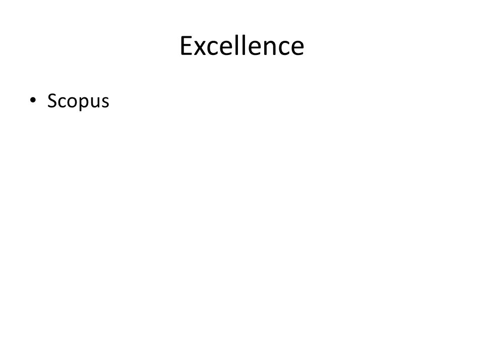 Excellence Scopus