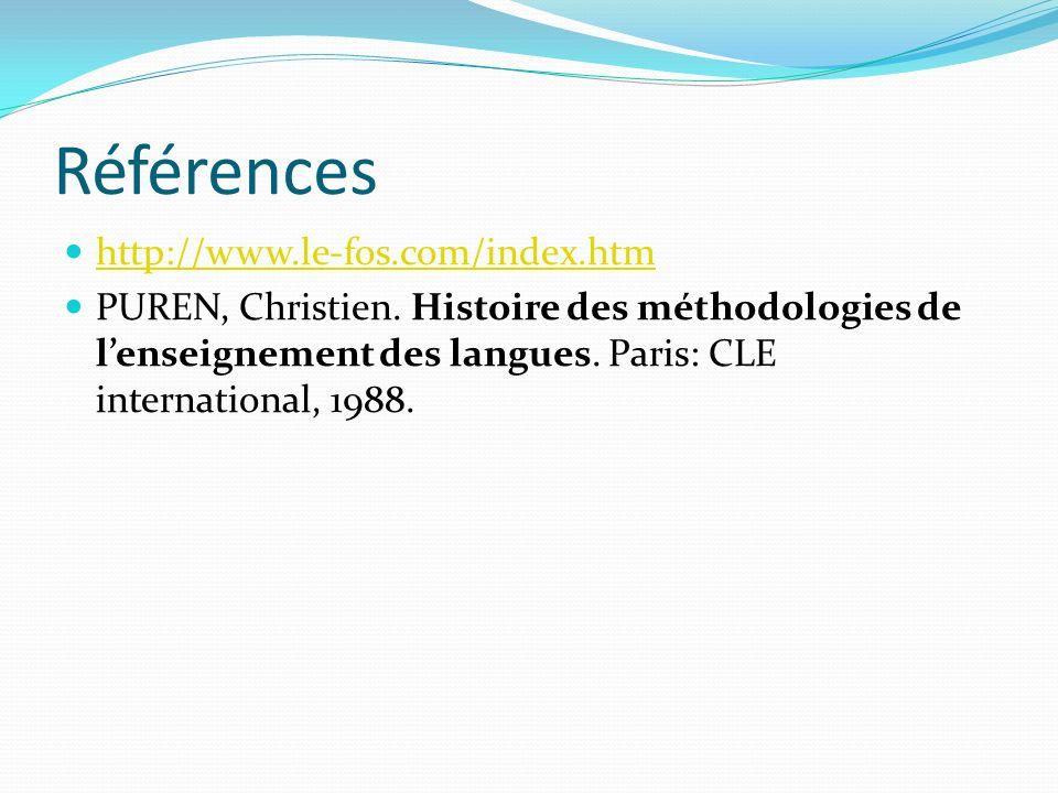 Références http://www.le-fos.com/index.htm PUREN, Christien.