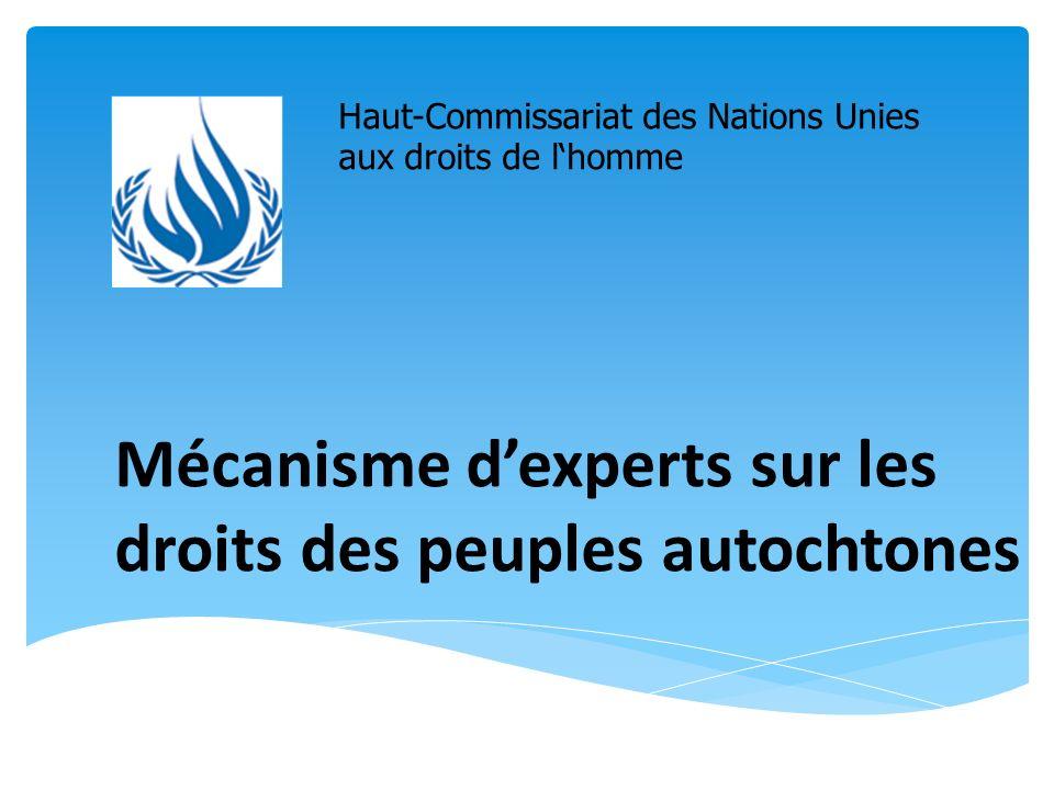 Mécanisme dexperts sur les droits des peuples autochtones Haut-Commissariat des Nations Unies aux droits de lhomme