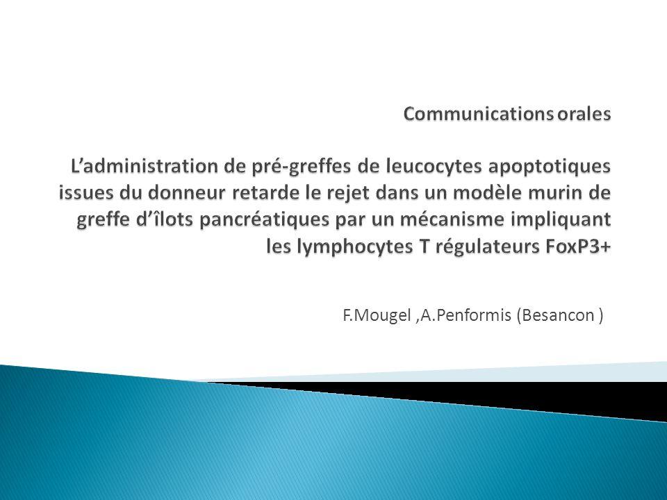 F.Mougel,A.Penformis (Besancon )