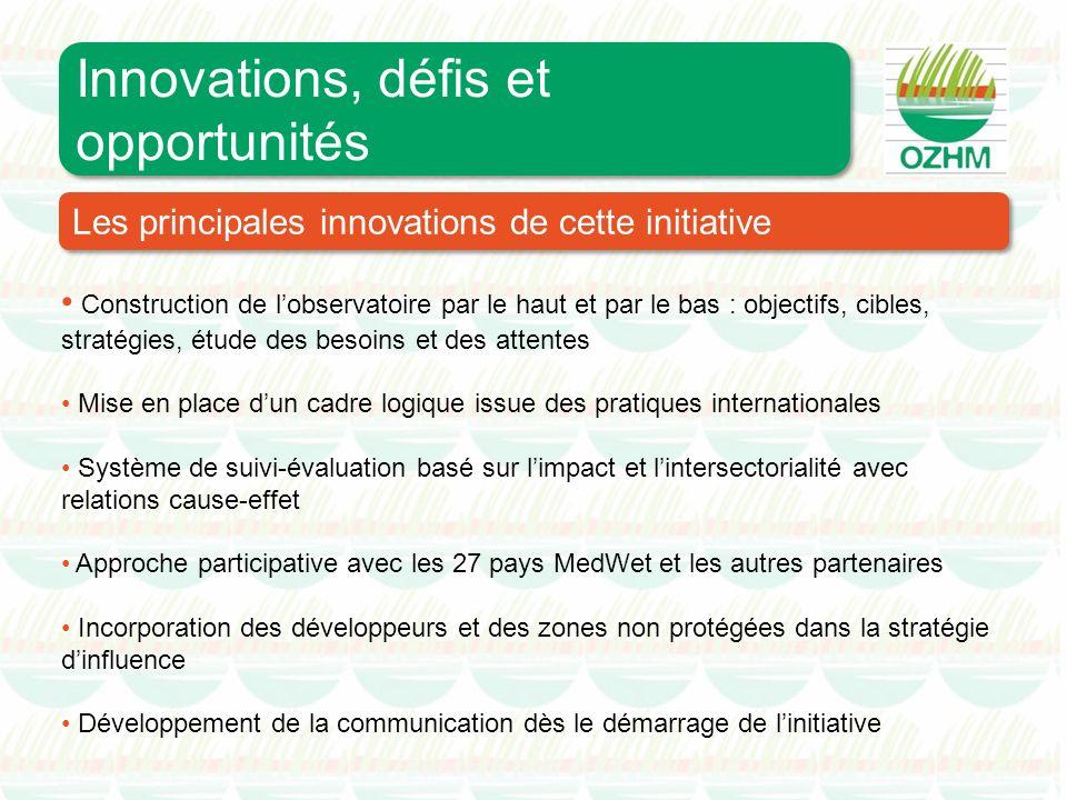 Construction de lobservatoire par le haut et par le bas : objectifs, cibles, stratégies, étude des besoins et des attentes Mise en place dun cadre log