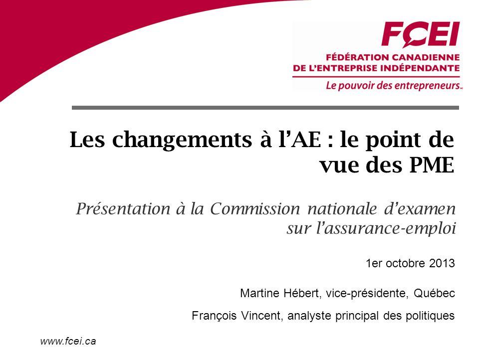 www.fcei.ca Mettre à pied pour profiter de lAE, une réalité .