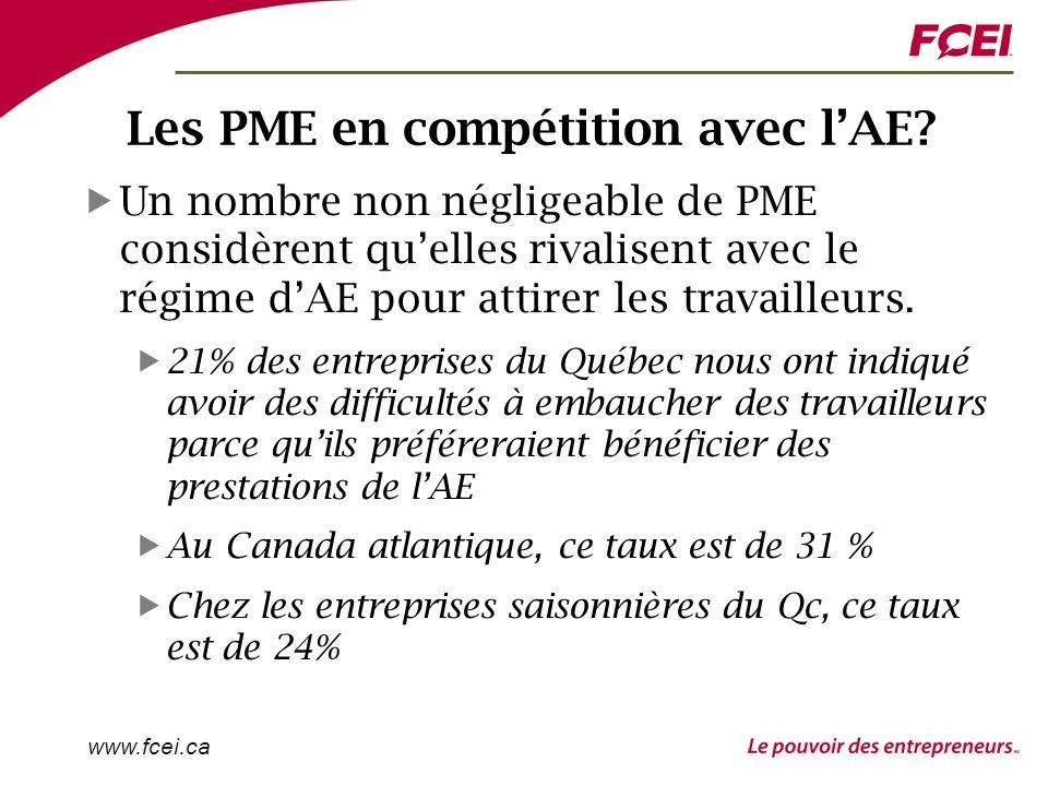 www.fcei.ca Les PME en compétition avec lAE.