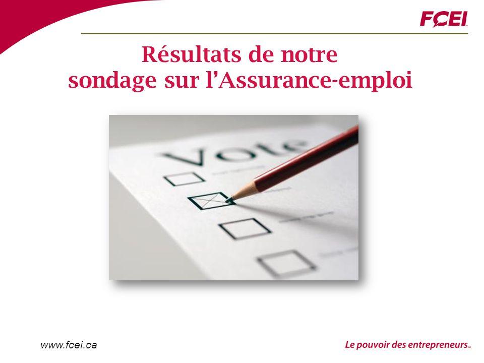 www.fcei.ca Résultats de notre sondage sur lAssurance-emploi