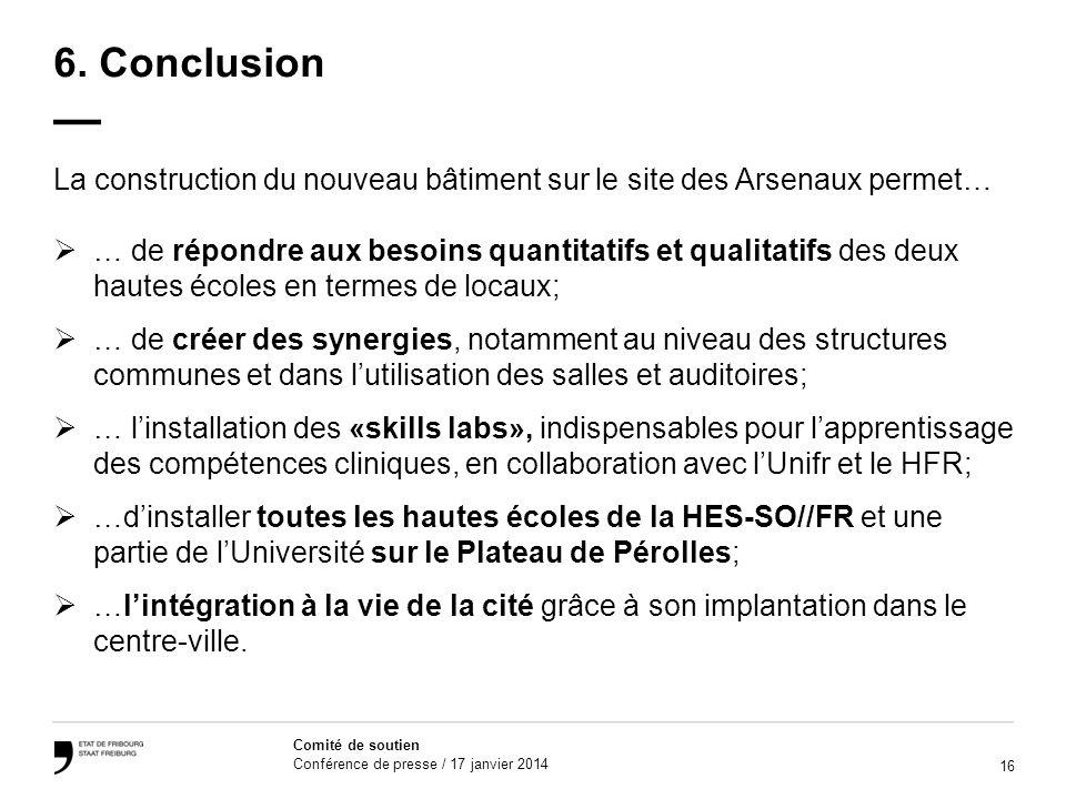 16 Comité de soutien Conférence de presse / 17 janvier 2014 6.