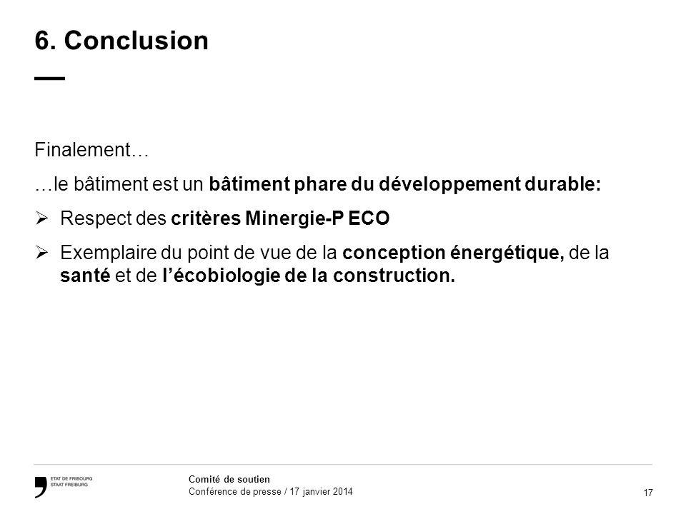 17 Comité de soutien Conférence de presse / 17 janvier 2014 6.
