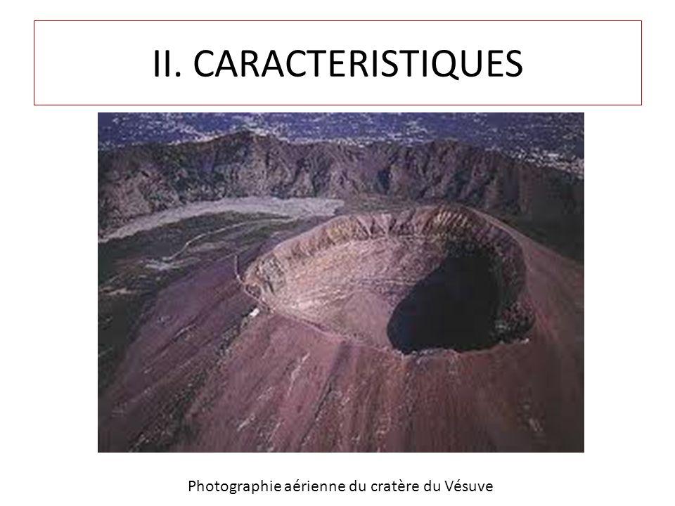 II. CARACTERISTIQUES Photographie aérienne du cratère du Vésuve