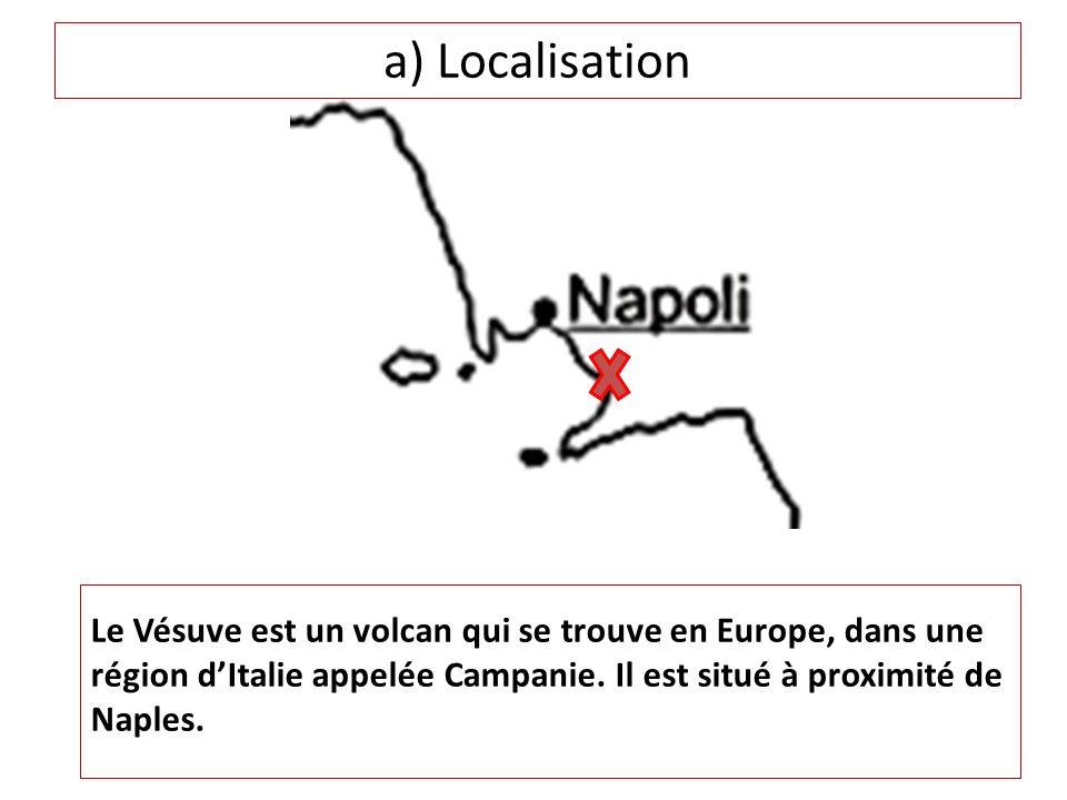 b) Présentation du volcan Le Vésuve est situé sur une fosse due au chevauchement de deux plaques tectoniques: la plaque eurasiatique et la plaque africaine.