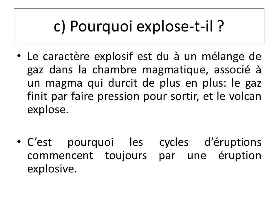 c) Pourquoi explose-t-il .