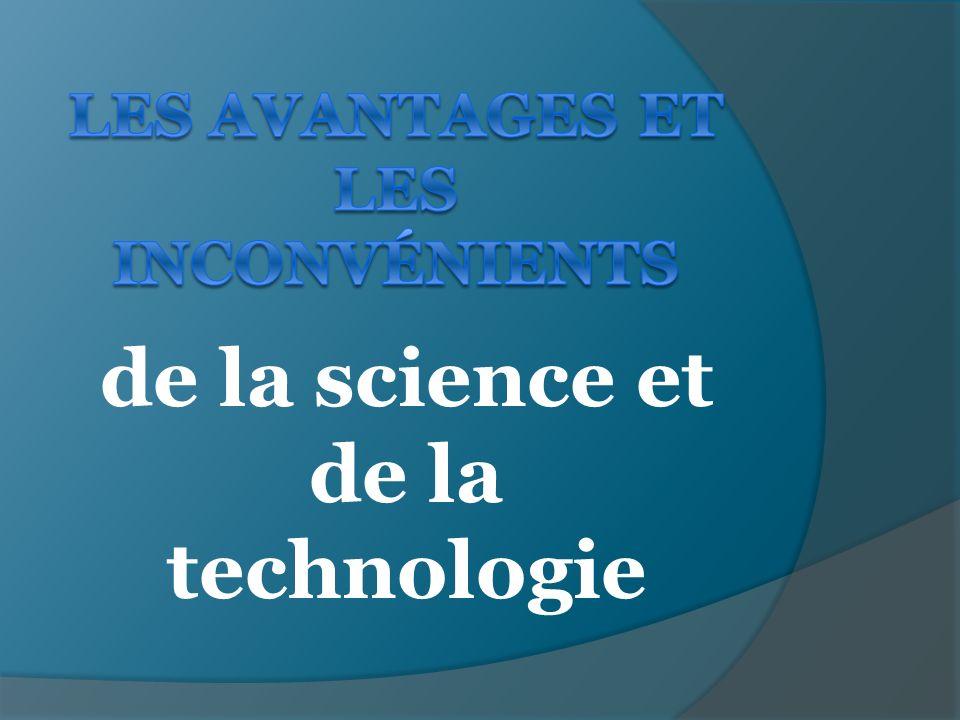 de la science et de la technologie