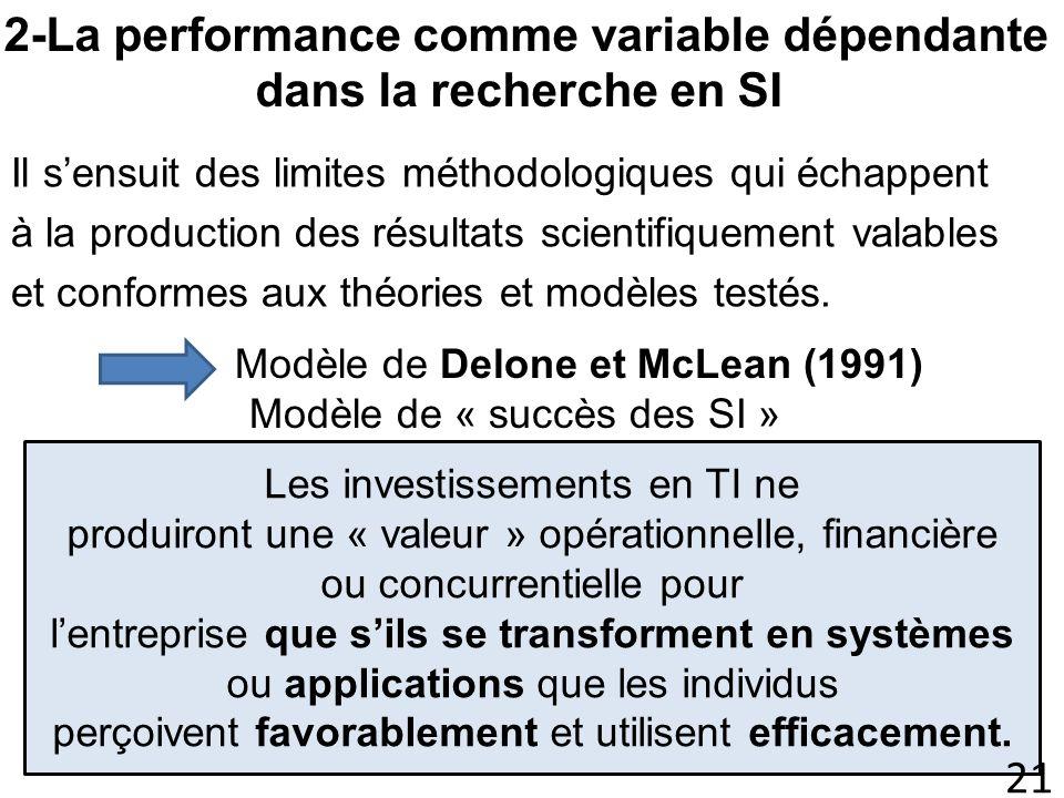 Il sensuit des limites méthodologiques qui échappent à la production des résultats scientifiquement valables et conformes aux théories et modèles test