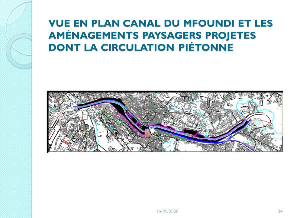 VUE EN PLAN CANAL DU MFOUNDI ET LES AMÉNAGEMENTS PAYSAGERS PROJETES DONT LA CIRCULATION PIÉTONNE 16/09/200834