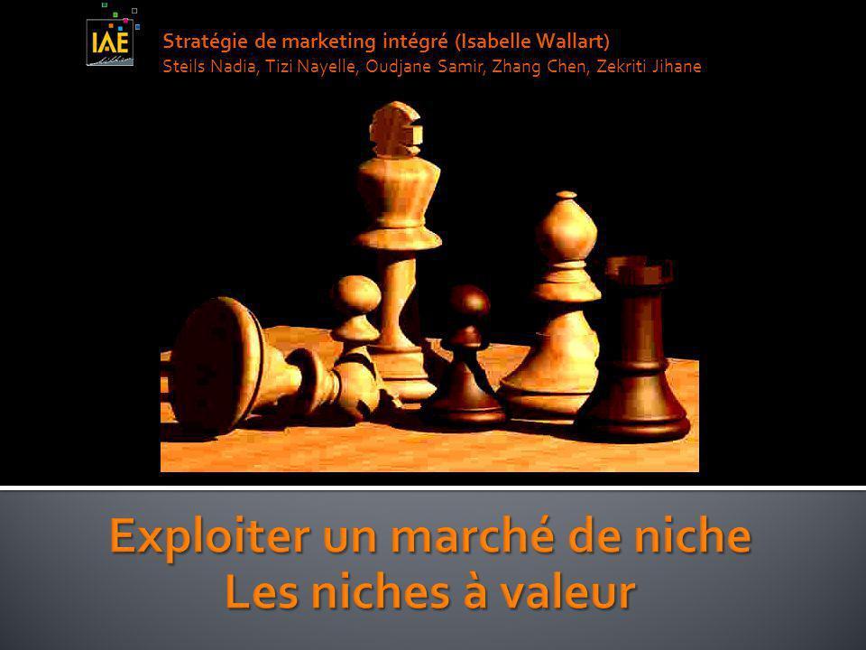 Stratégie de marketing intégré (Isabelle Wallart) Steils Nadia, Tizi Nayelle, Oudjane Samir, Zhang Chen, Zekriti Jihane