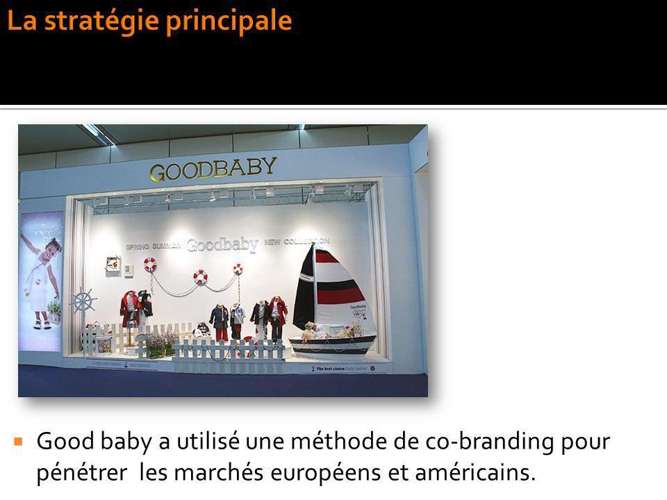 Good baby a utilisé une méthode de co-branding pour pénétrer les marchés européens et américains.