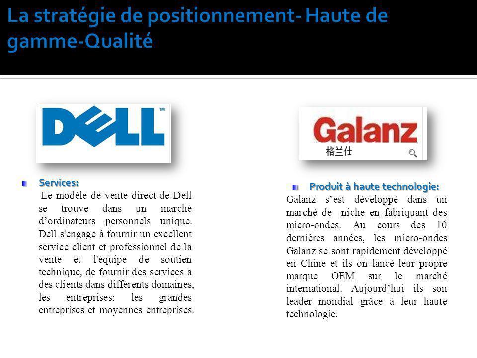 Services: Le modèle de vente direct de Dell se trouve dans un marché dordinateurs personnels unique. Dell s'engage à fournir un excellent service clie