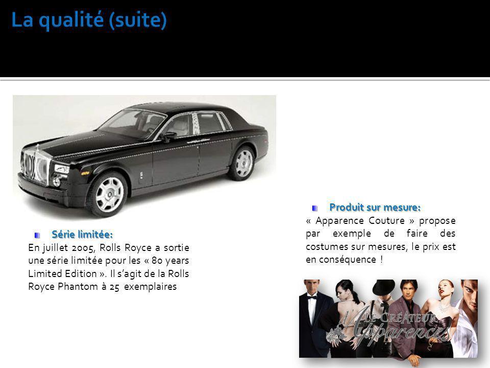 Série limitée: En juillet 2005, Rolls Royce a sortie une série limitée pour les « 80 years Limited Edition ». Il sagit de la Rolls Royce Phantom à 25