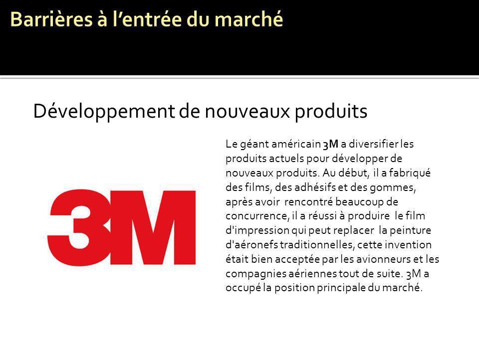 Développement de nouveaux produits Le géant américain 3M a diversifier les produits actuels pour développer de nouveaux produits. Au début, il a fabri