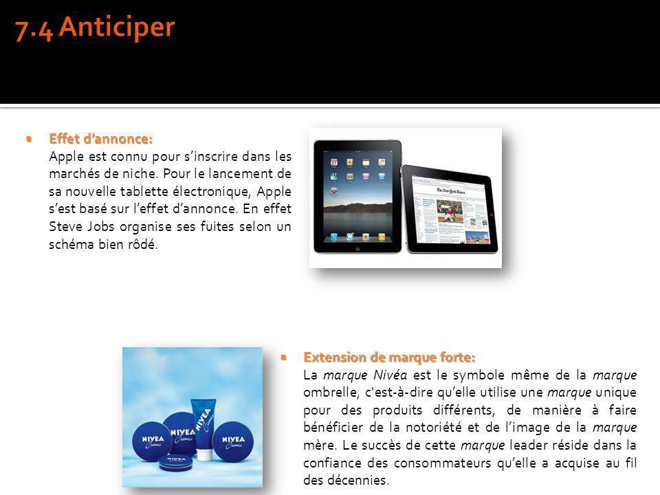 Effet dannonce: Effet dannonce: Apple est connu pour sinscrire dans les marchés de niche. Pour le lancement de sa nouvelle tablette électronique, Appl
