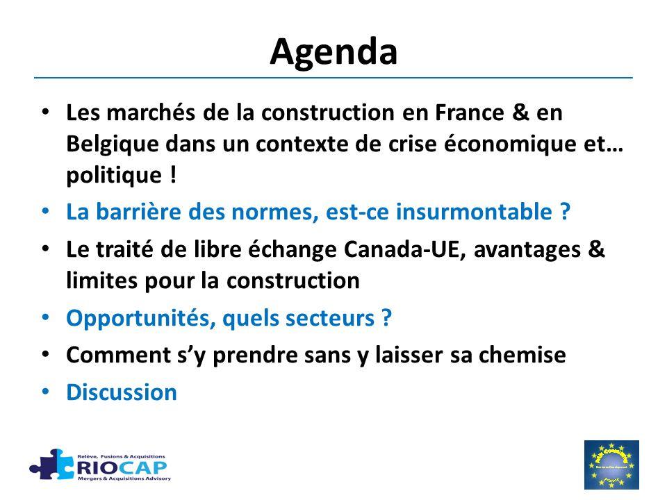Agenda Les marchés de la construction en France & en Belgique dans un contexte de crise économique et… politique .