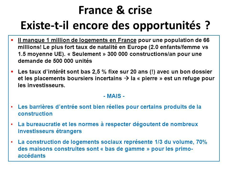 France & crise Existe-t-il encore des opportunités .