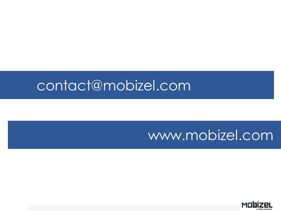 contact@mobizel.com www.mobizel.com