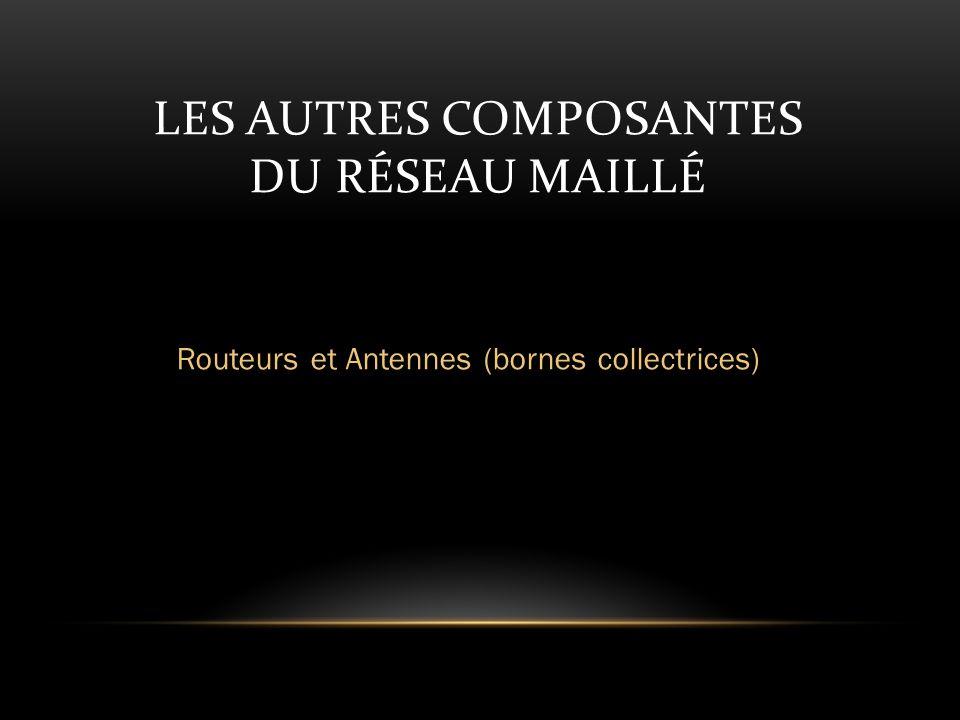 LES AUTRES COMPOSANTES DU RÉSEAU MAILLÉ Routeurs et Antennes (bornes collectrices)