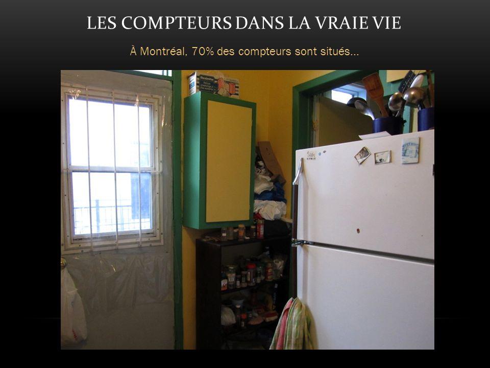 LES COMPTEURS DANS LA VRAIE VIE À Montréal, 70% des compteurs sont situés...