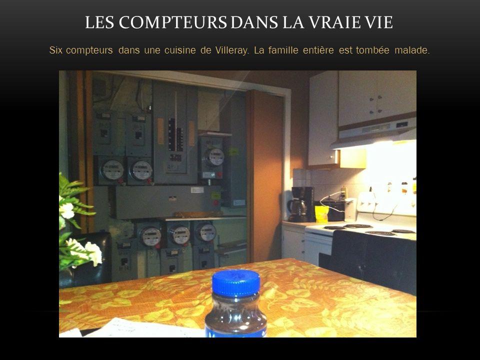 LES COMPTEURS DANS LA VRAIE VIE Six compteurs dans une cuisine de Villeray.