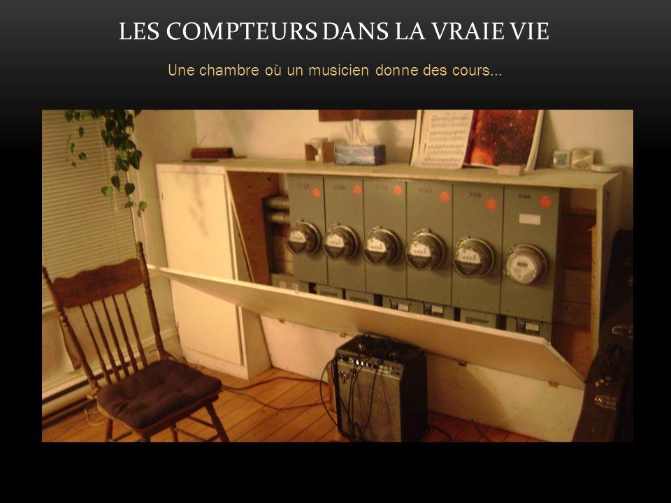 LES COMPTEURS DANS LA VRAIE VIE Une chambre où un musicien donne des cours...