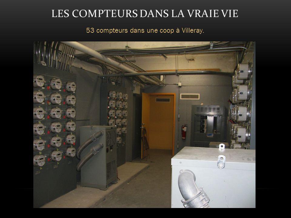 LES COMPTEURS DANS LA VRAIE VIE 53 compteurs dans une coop à Villeray.